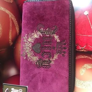 Juicy Couture wallet eggplant purple.